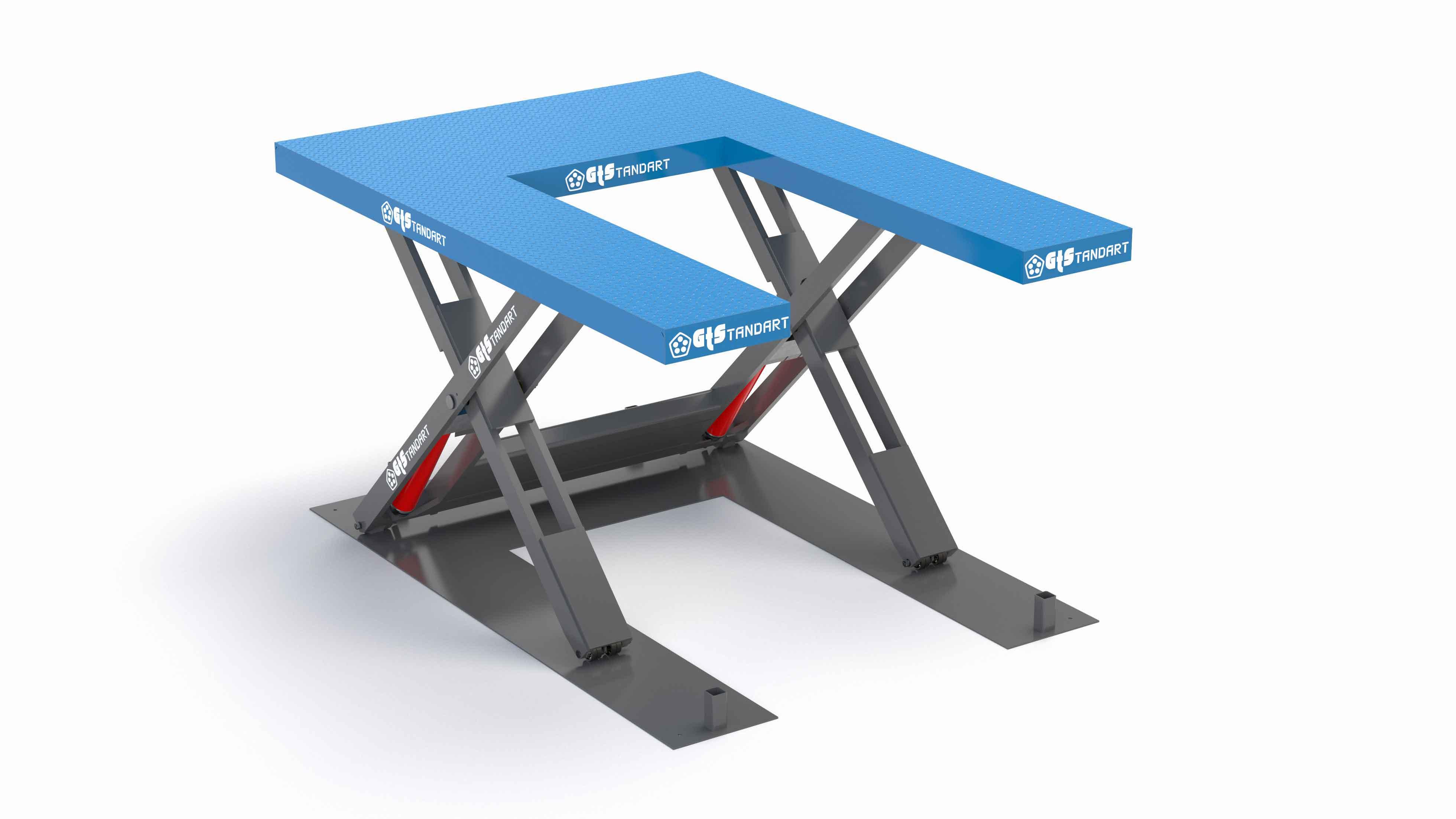 U-ножничный-стол