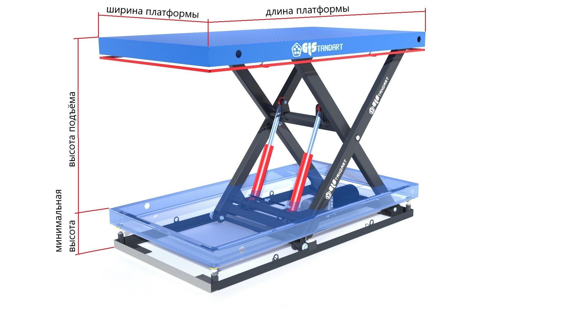 подъёмный одноножнинчый стол