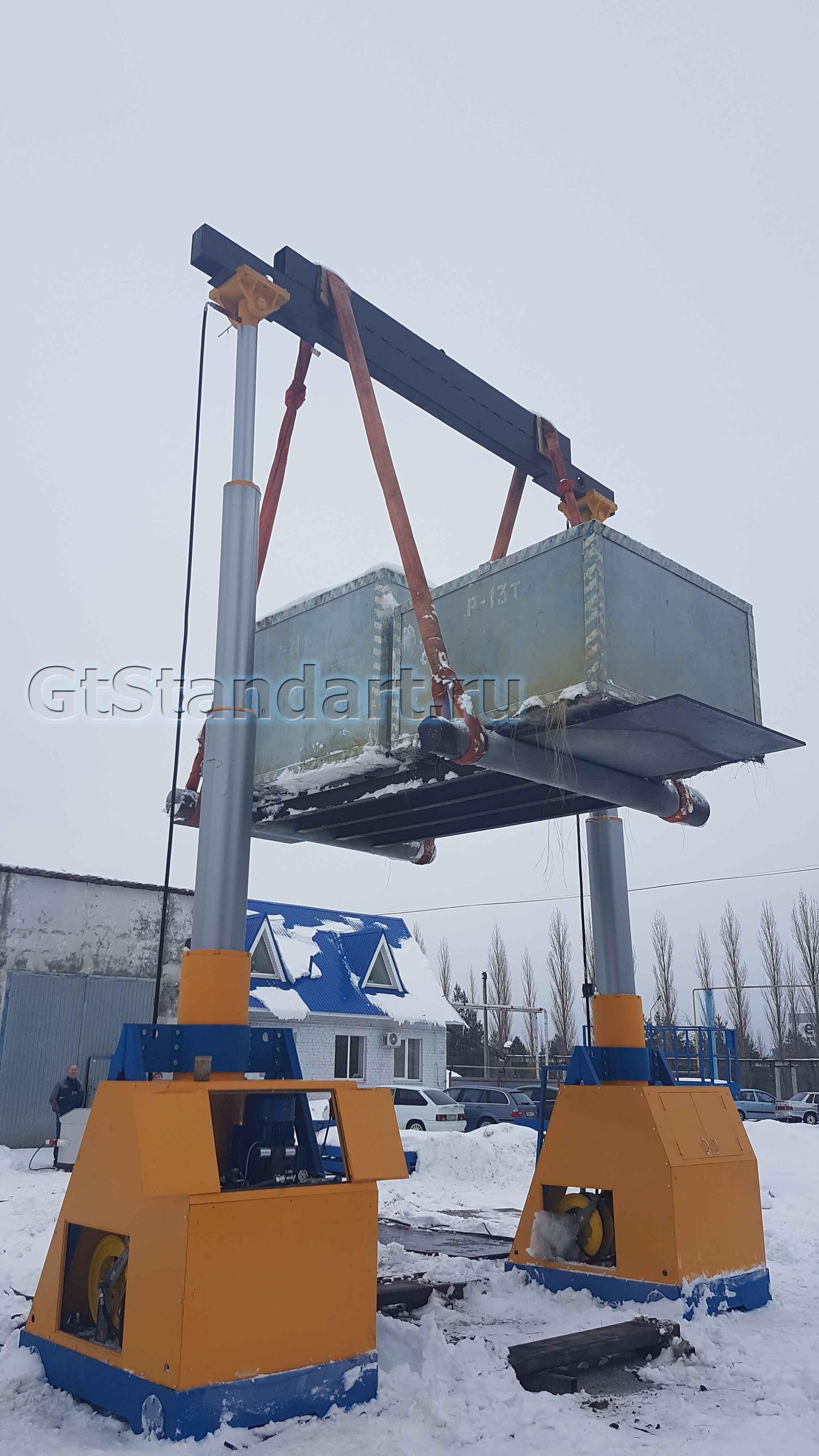 Портальный гидравлический подъёмник 200 тонн