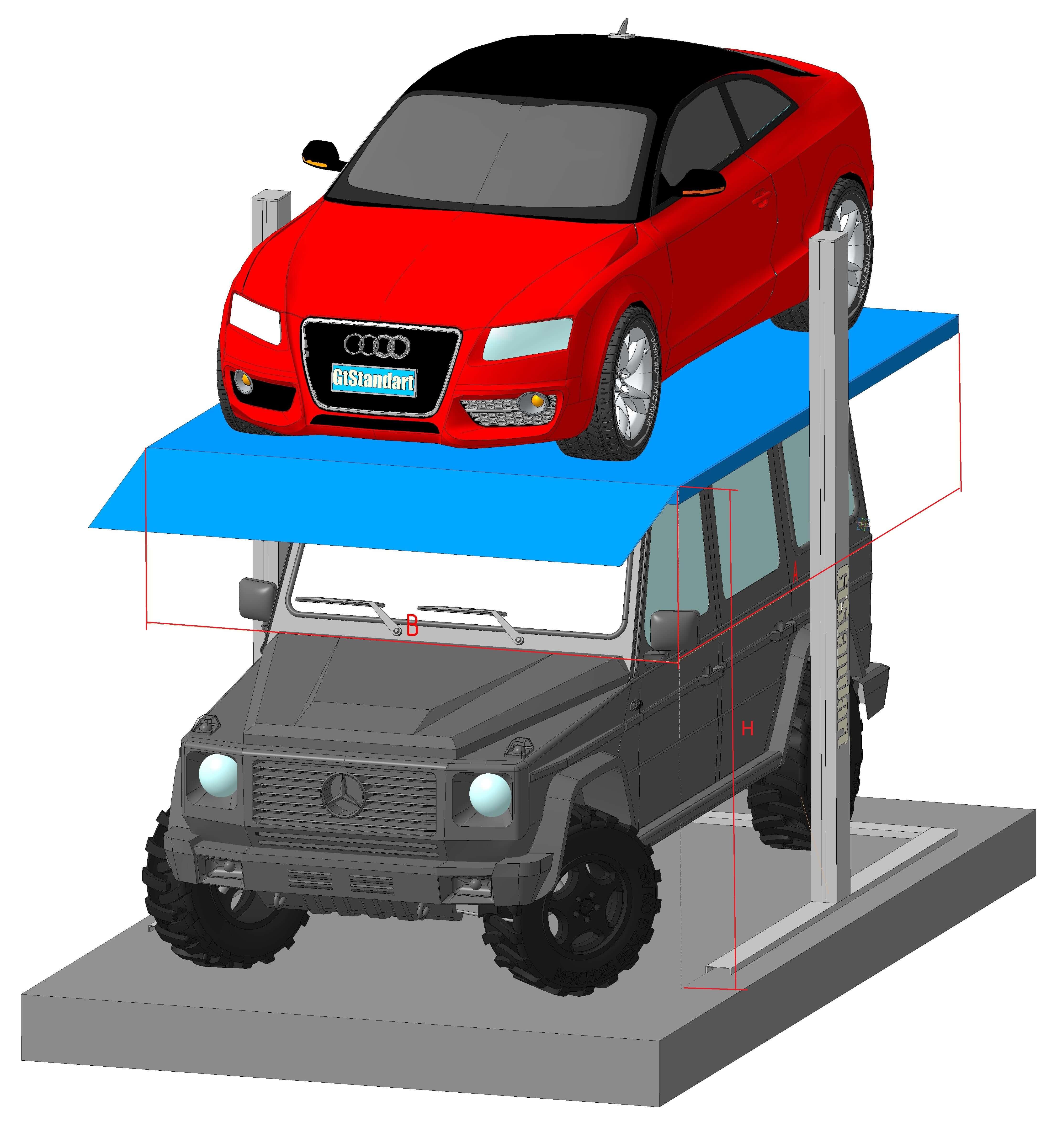 Парковочная система с размерами