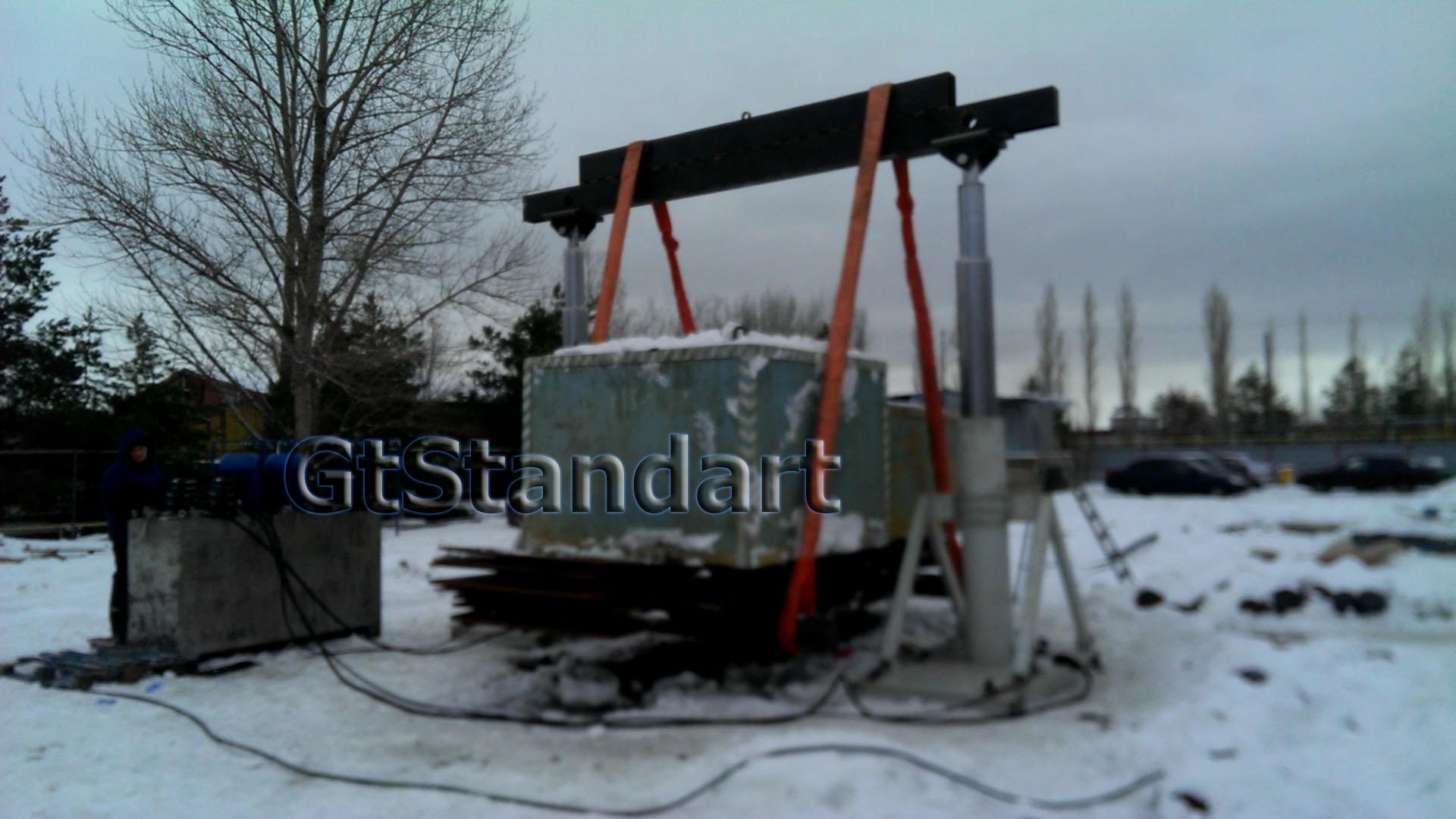 Стационарный портальный подъёмник 120 тонн