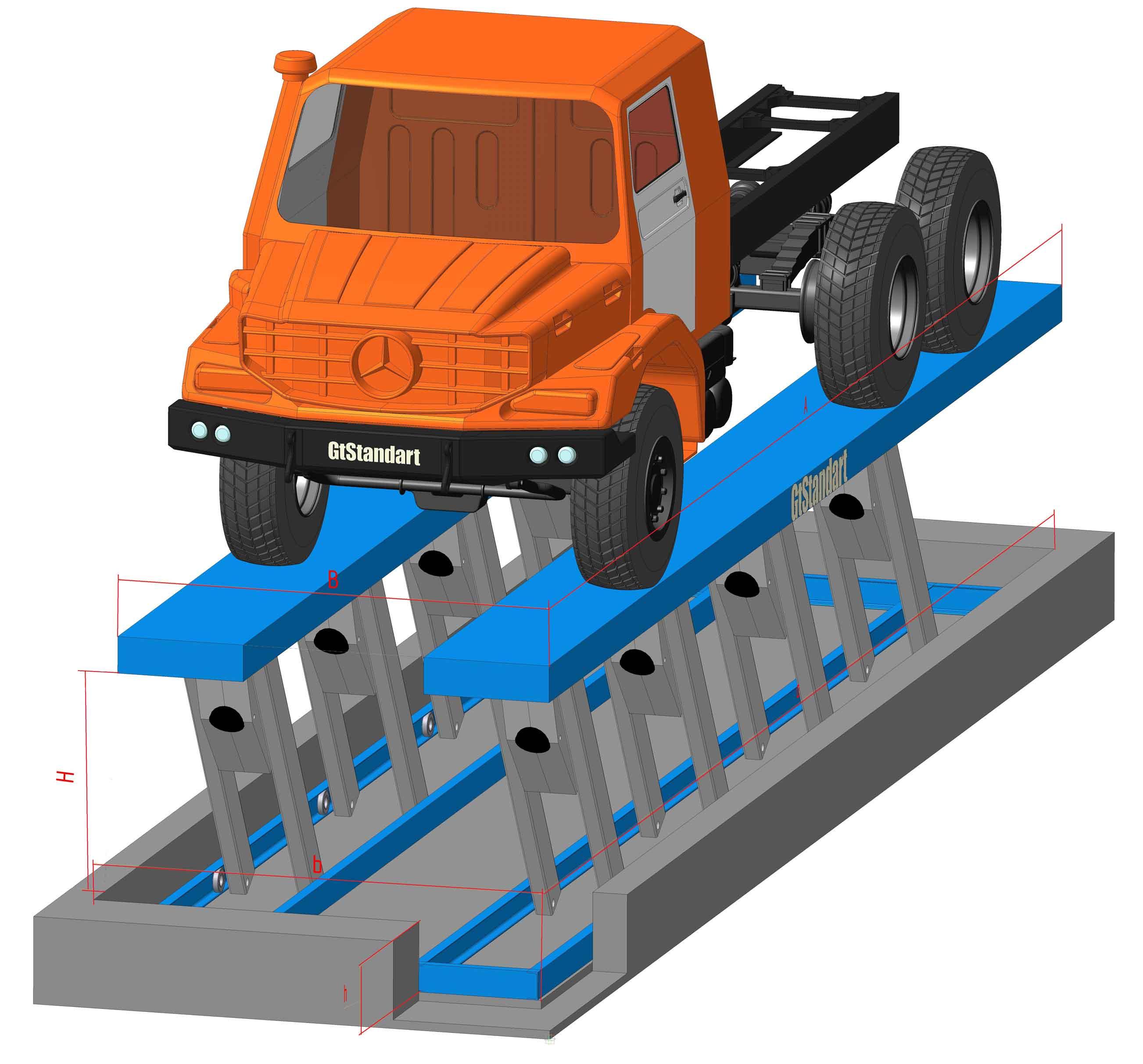 Гидравлический подъемник для грузовых автомобилей