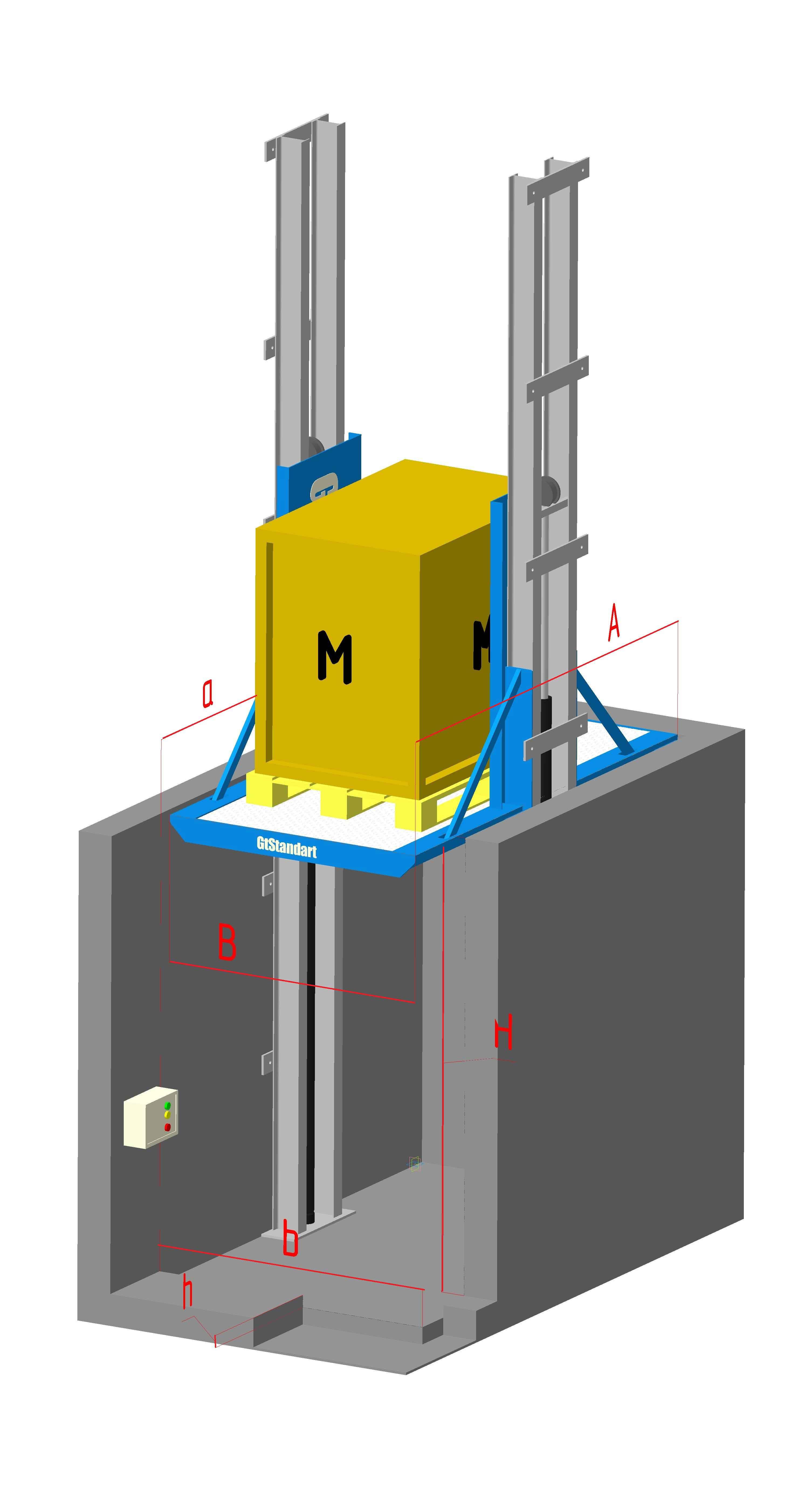 подъемник мачтовый телескопический
