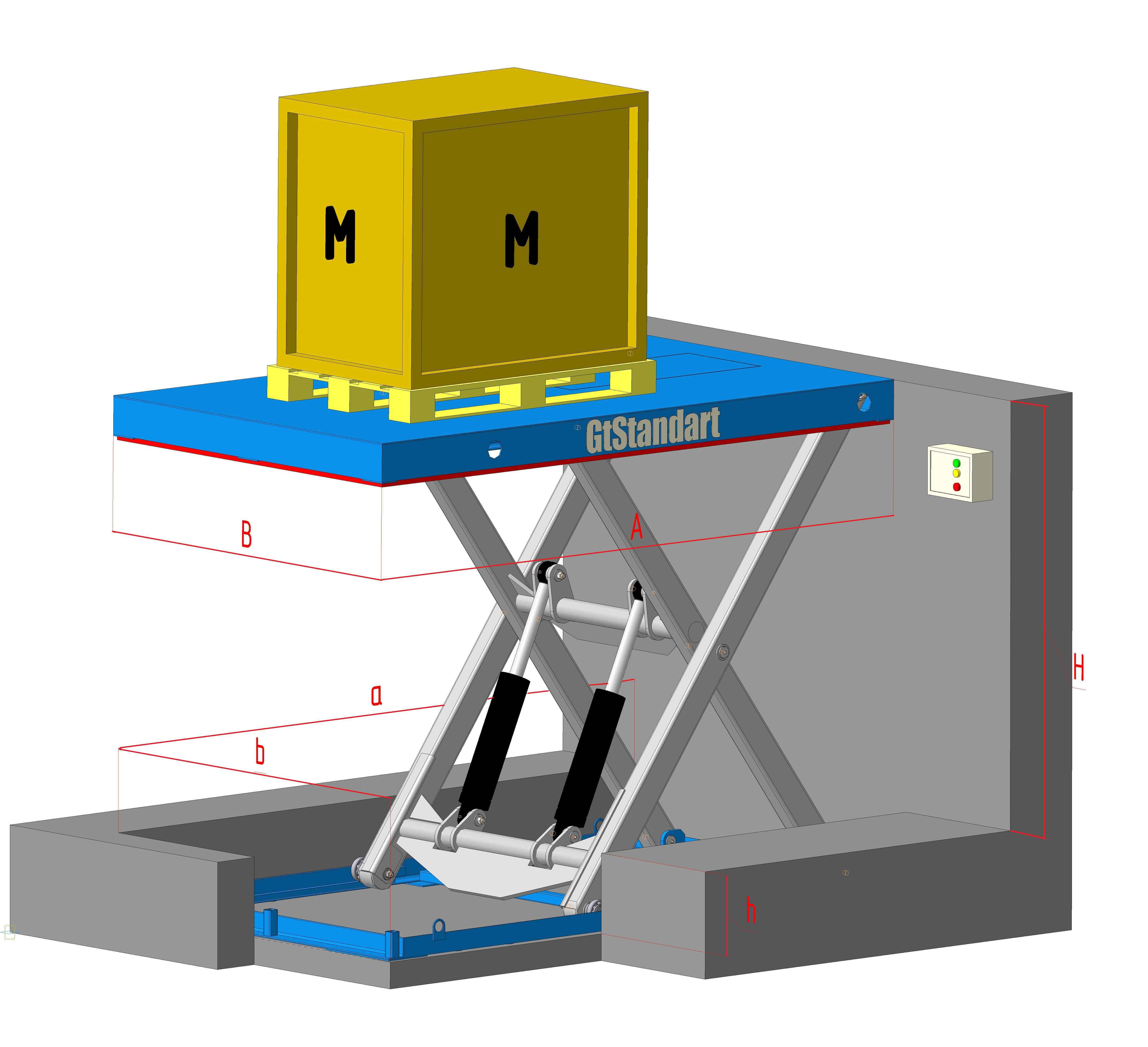 гидравлический подъемный стол