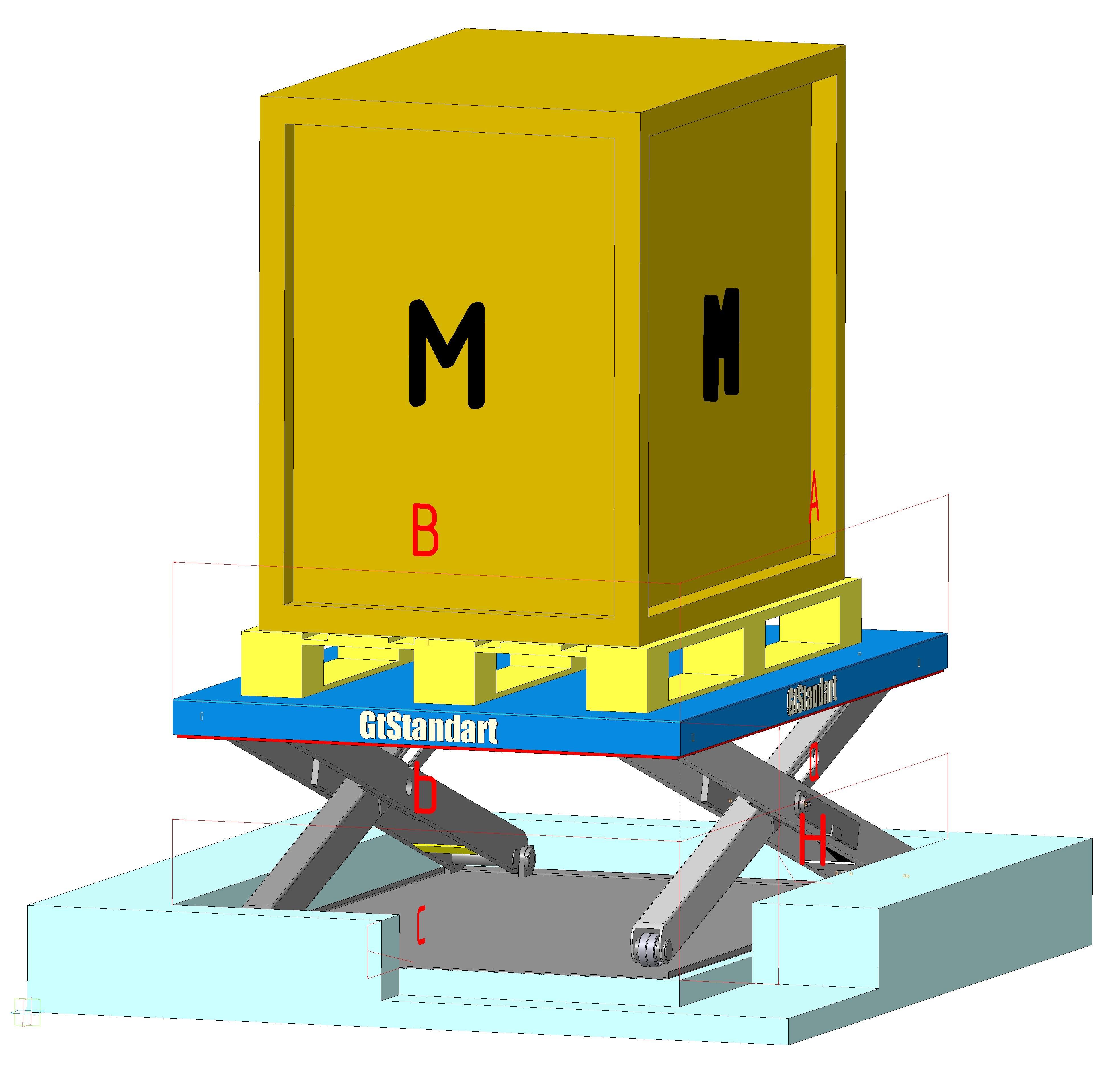 Никзопрофильный подъёмный стол