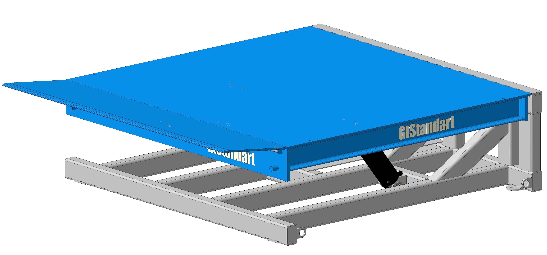 Уравнительная платформа с аппарелью