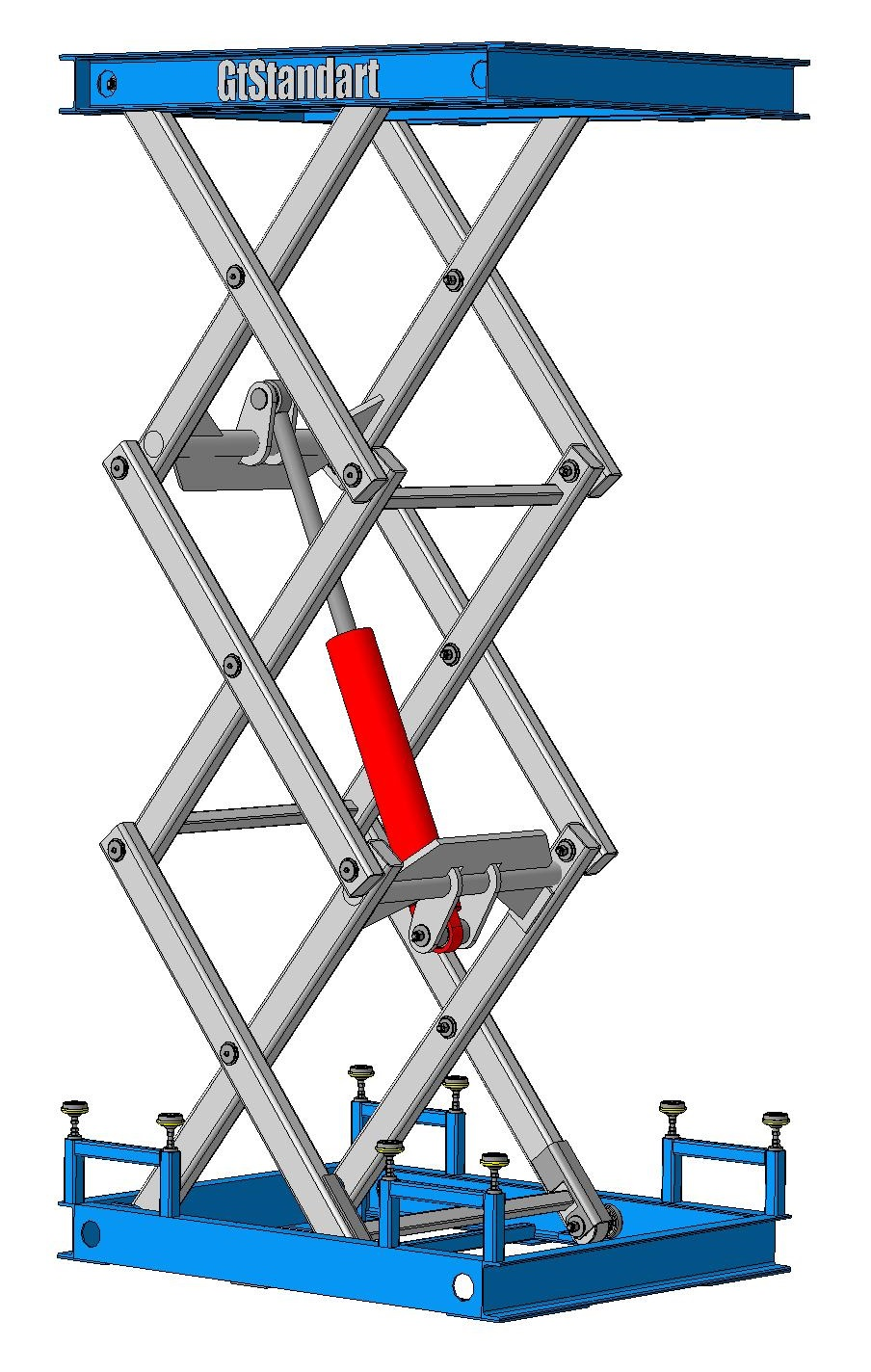 Подъёмная гидравлическая платформа